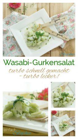 Wasabi-Gurkensalat turbo schnell gemacht, turbo lecker by www.einfachStephie.de