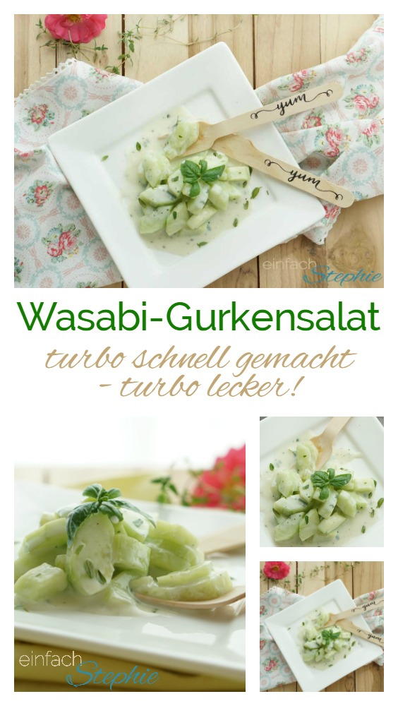 wasabi gurkensalat turboschneller beilagensalat zum grillen einfach stephie. Black Bedroom Furniture Sets. Home Design Ideas