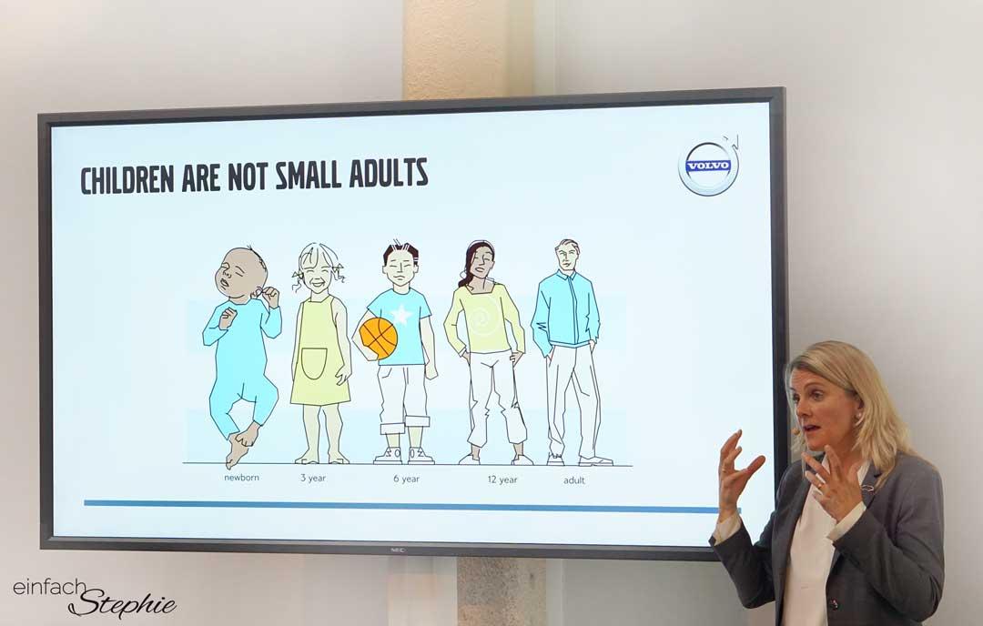 der neue Volvo XC60. Vortrag zu Kindersicherheit in Autos