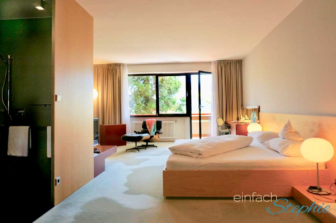 Entschlacken durch Basenfasten im Hotel Marlena. Mein Zimmer mit Dusche statt Wanne