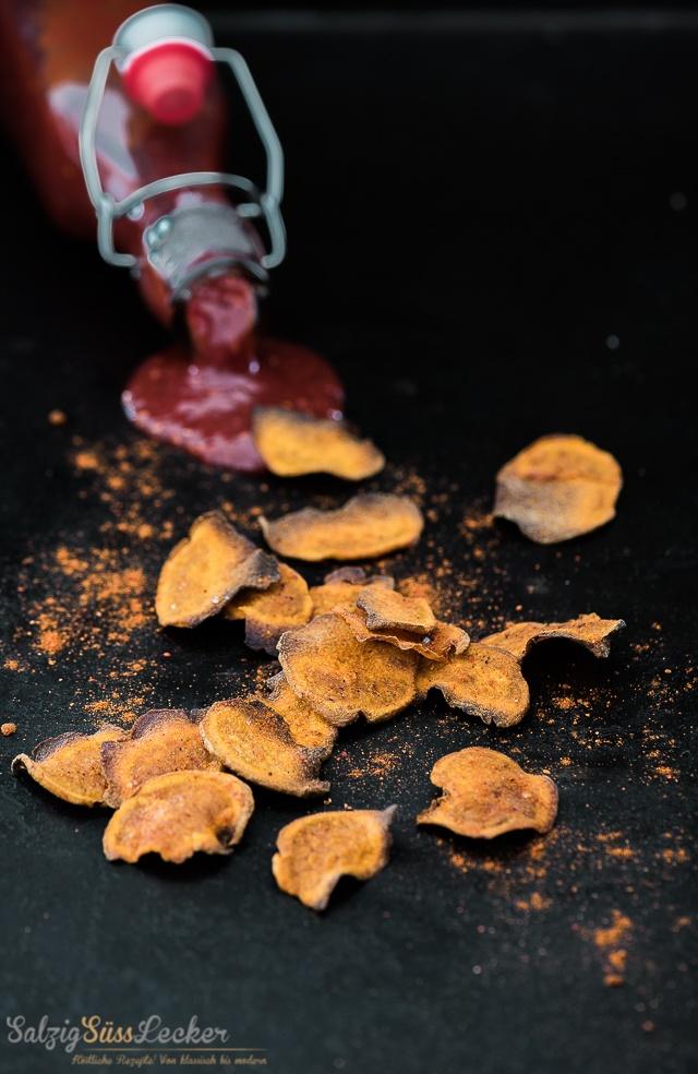 Leckere vegane Saucen zum Grillen. Himbeer-BBQ-Ketchup mit Ingwer