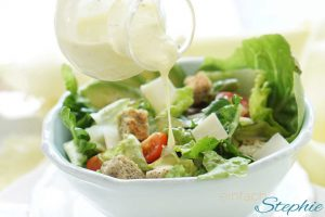 Caesars Salad Bowl. Caesar Salad Dressing