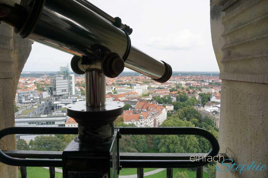 Über den Dächern von Hannover - vom Turm des neuen Rathauses aus