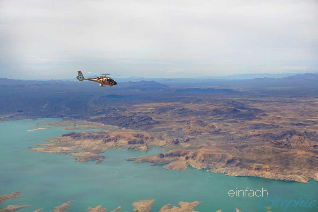 Familienurlaub Westküste USA Kalifornien mit Las Vegas. Hubschrauber-Rundflug Grand Canyon