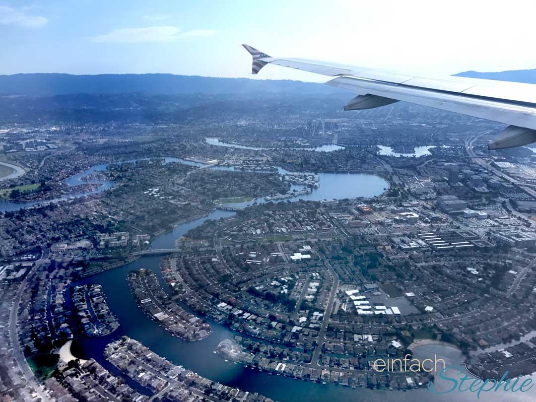 Familienurlaub Westküste USA Kalifornien mit Las Vegas. Inlandsflug Las Vegas nach San Francisco