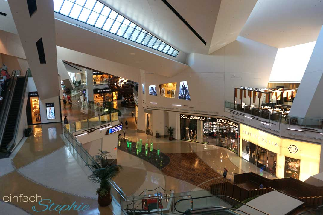 Familienurlaub Las Vegas. Luxus Shoppingmall