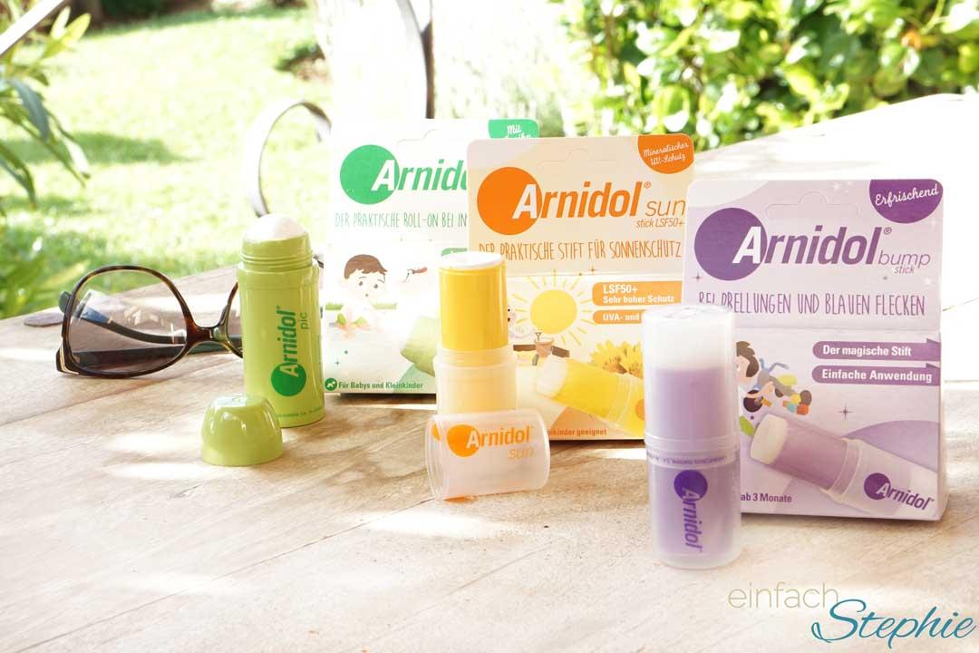 Arnidol Sticks für die kleine Reiseapotheke. Alle 3 Produkte