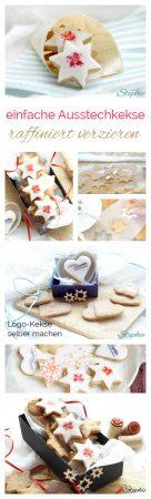 einfache Ausstechkekse raffiniert verzieren. Logo-Kekse selber stempeln mit www.einfachstephie.de