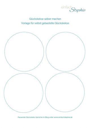 Glückskekse basteln aus Papier. Vorlage zum gratis Download