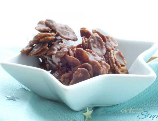 Schokoladen Pralinen wie Schoko Crossies einfach selber machen. Cornflakes-Schoko-Pralinen
