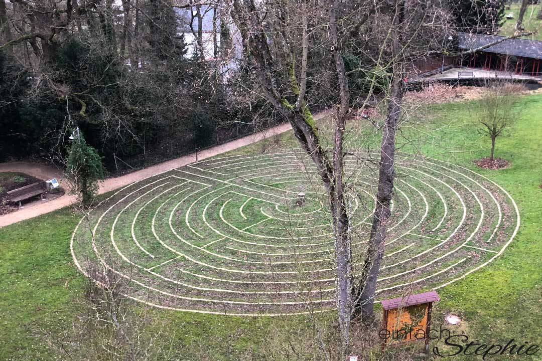 Mein Wochenende im Kloster | Neu ausrichten für 2018. Kloster Arenberg bei Koblenz. Irrgarten