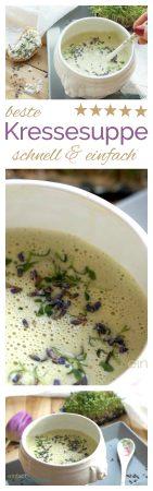 beste Kressesuppe einfach und schnell kochen mit www.einfachstephie.de