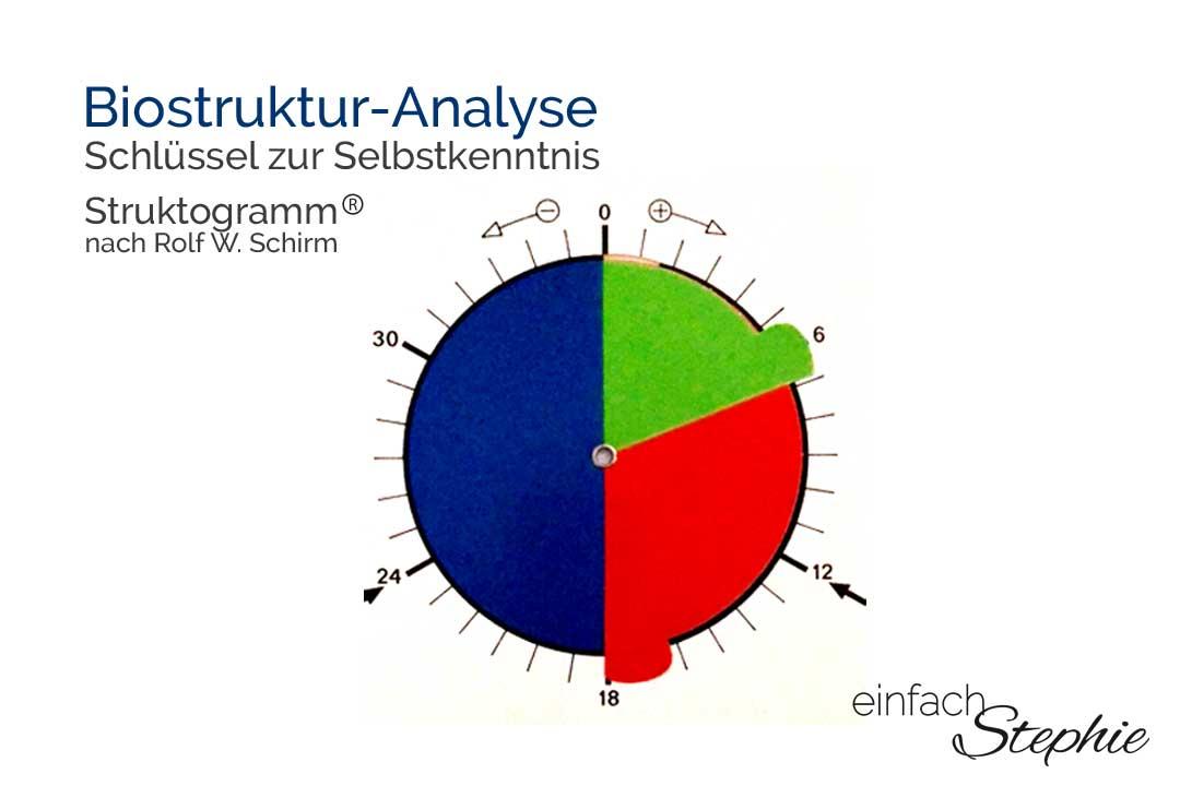 Biostruktur-Analyse. Auswertung per Struktogramm