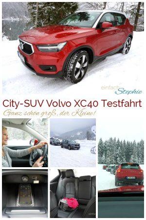 City-SUV Volvo XC40 Testfahrt Winter. Ganz schön groß, der Kleine.