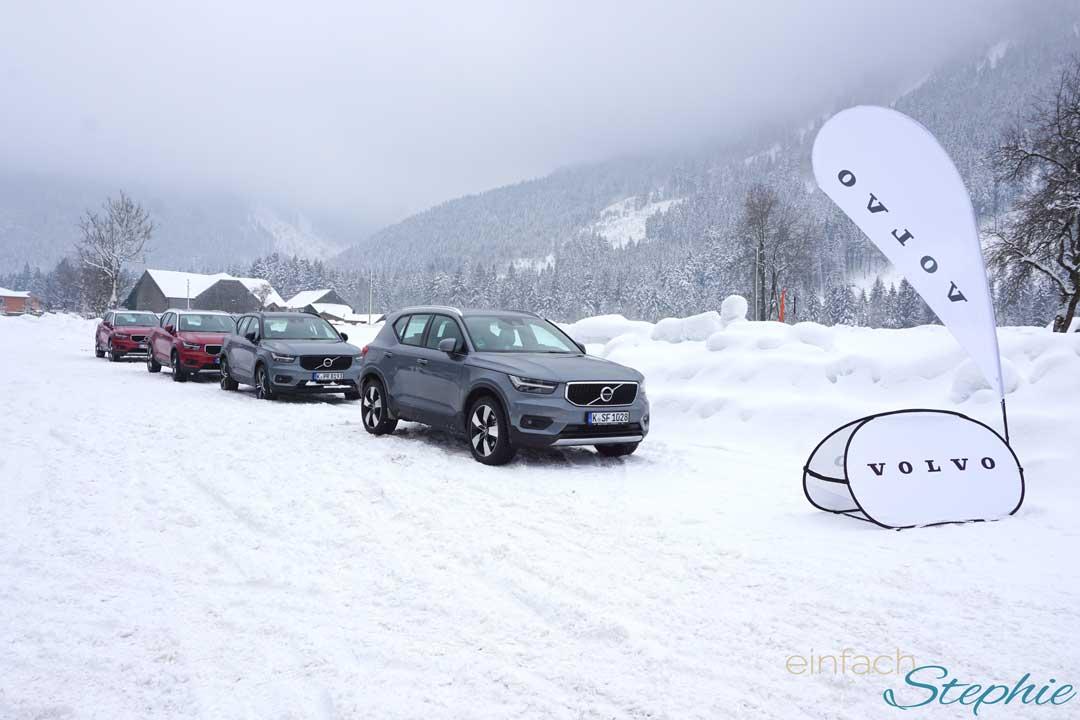 Wintertestfahrt 2018 Volvo XC40. Fahrtraining