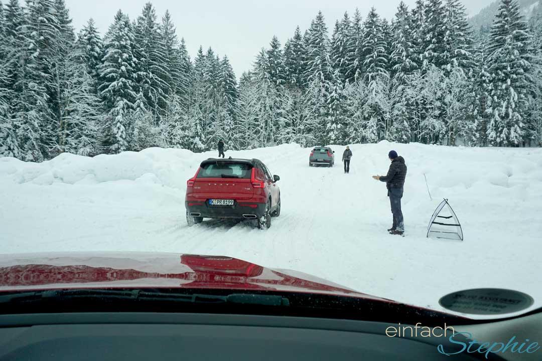 Wintertestfahrt 2018 Volvo XC40. Fahrtraining am vereisten Berg