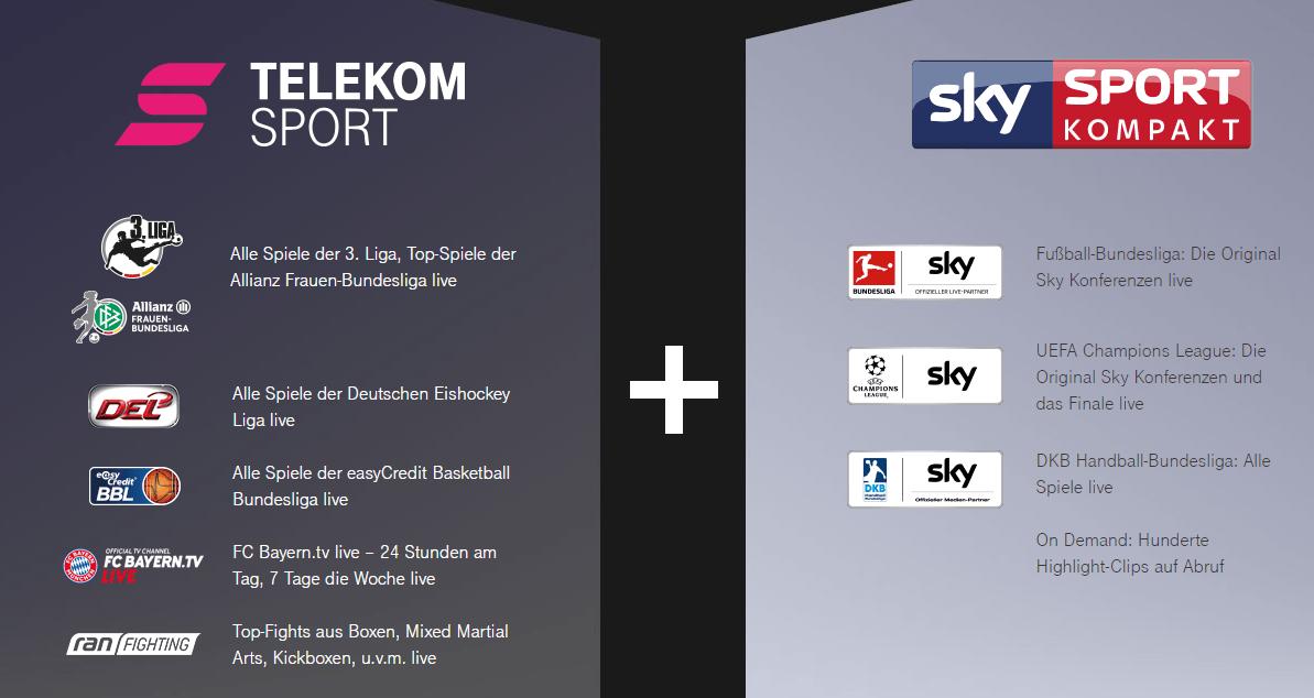 Telekom Sport Die ganze Welt des Sports erleben Telekom Sportpaket