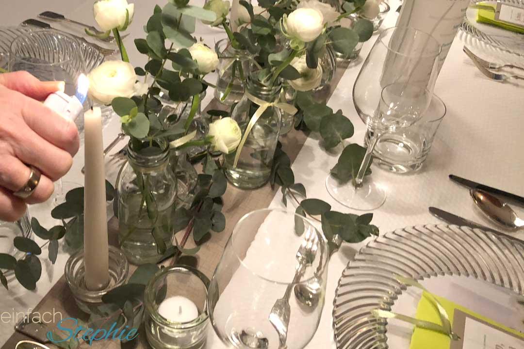 Tischdeko Kommunion, Konfirmation, Hochzeit, Taufe ganz einfach