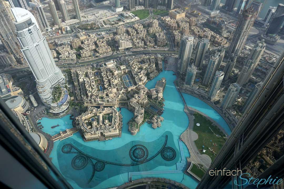Ausflugstipp für Dubai mit Familie. Blick vom Burj Khalifa