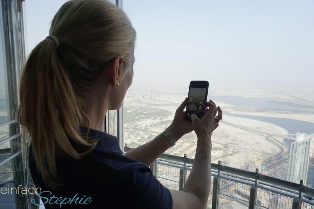 Dubai von oben. Burj Khalifa 124. Etage