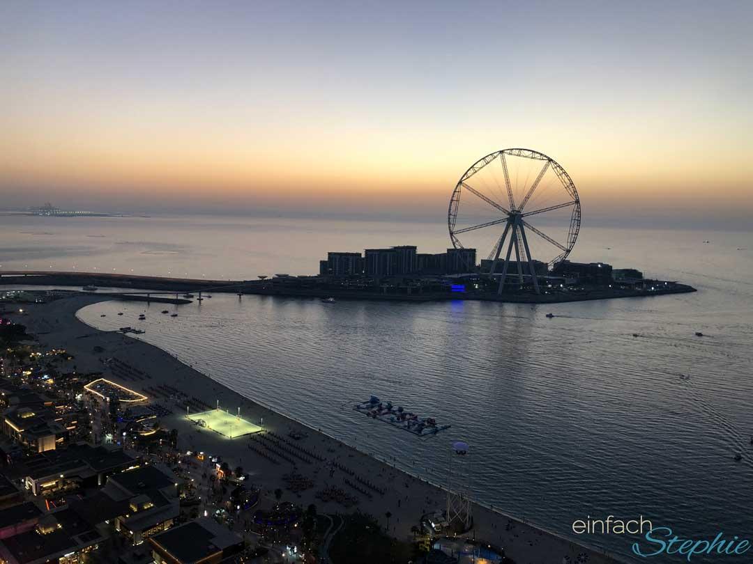 Dubai Urlaub mit Familie. The Walk am Abend