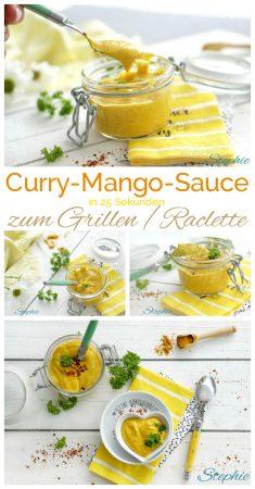Curry-Mango-Dip Curry-Mango-Sauce zum Grillen oder Raclette in 25 Sek. mit www.einfachstephie.de