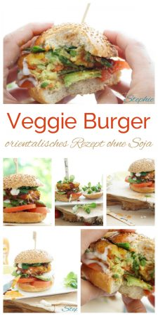Orientalische Veggie Burger. Rezept ohne Soja