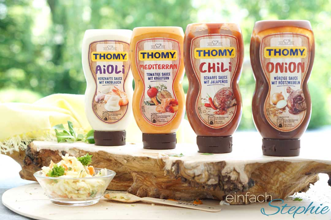 Test Thomy Grillsaucen für Veggie Burger