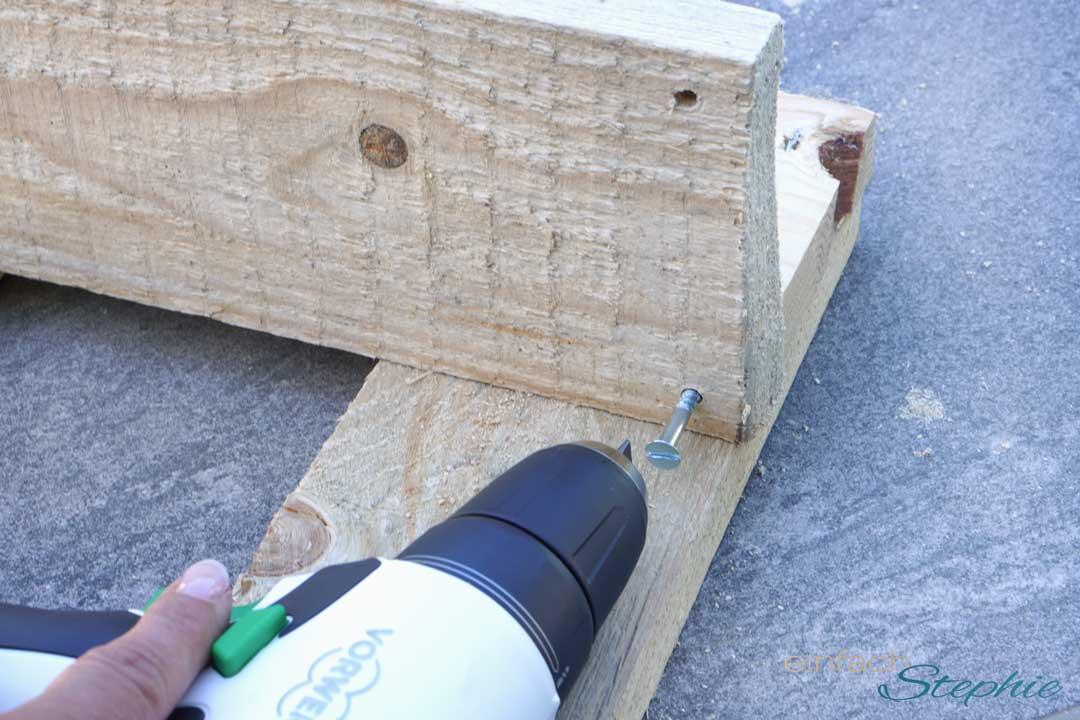 Basteln mit Twercs. Haustürdeko aus Holz