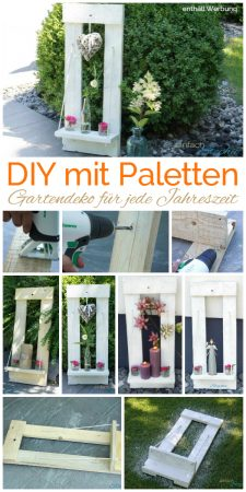 DIY mit Paletten Gartendeko Haustürdeko selber machen mit www.einfachstephie.de