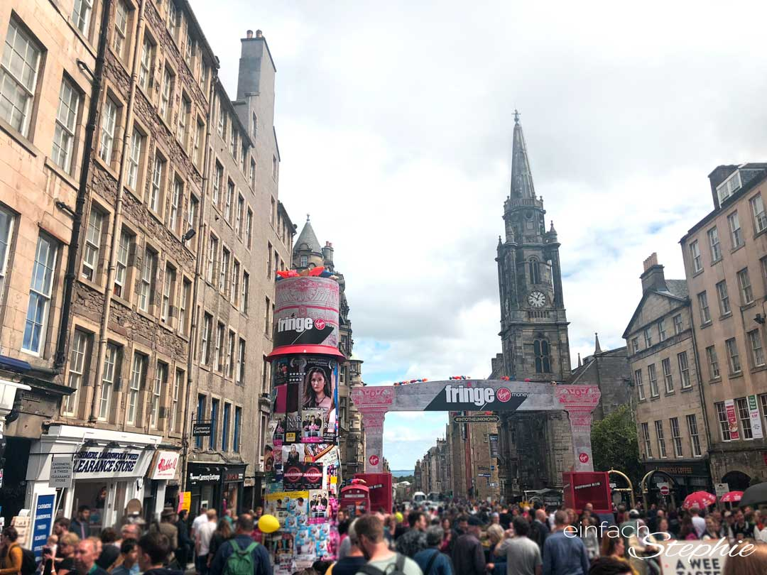 Festival Fringe in Edinburgh. Rundreise Schottland mit Teenagern