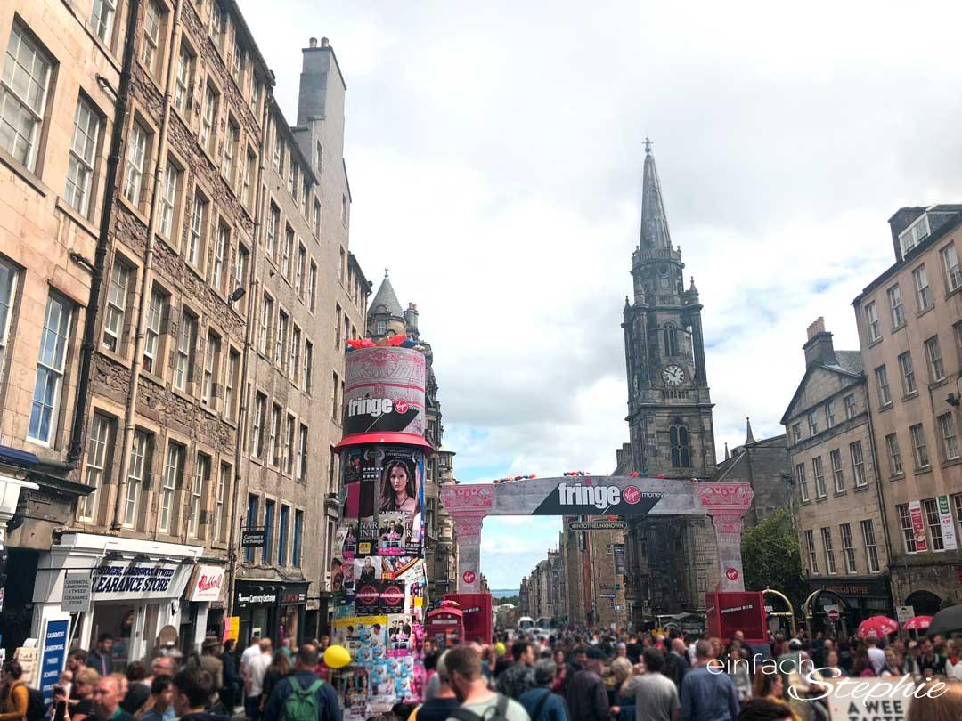 Festival Fringe in Edinburgh. Rundreise Schottland mit Teenagern