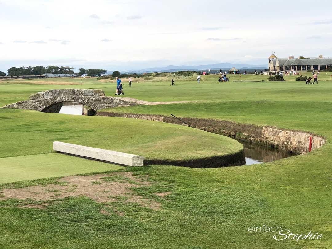 Golfplatz St. Andrews, Schottland. The Old Course