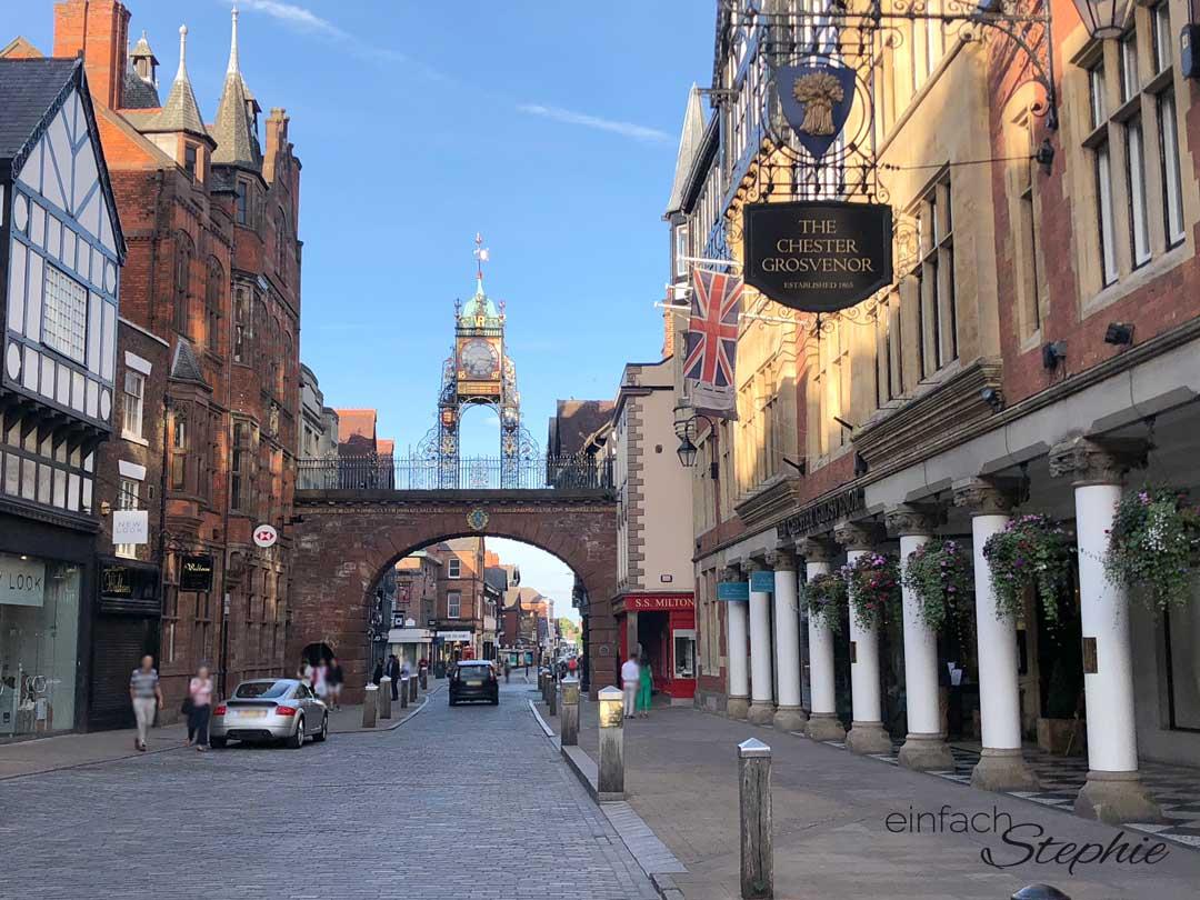 Chester. Wunderschöne Kleinstadt in England, nahe Wales