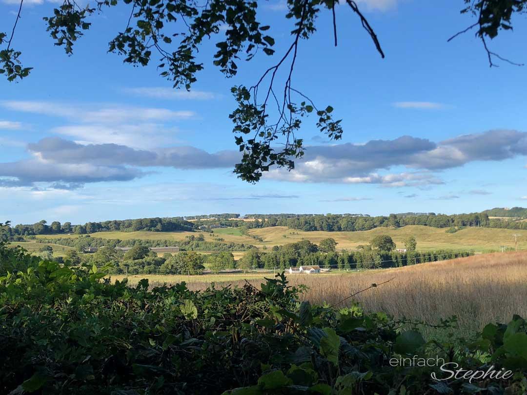 Malerischer Ausblick auf Alnwick, Northumberland