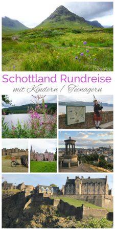 Schottland Rundreise mit Kindern / Teenagern. Tipps für Übernachtung, Städte und Natur. Von Northumberland bis in die Highlands über Edinburgh und Glasgow
