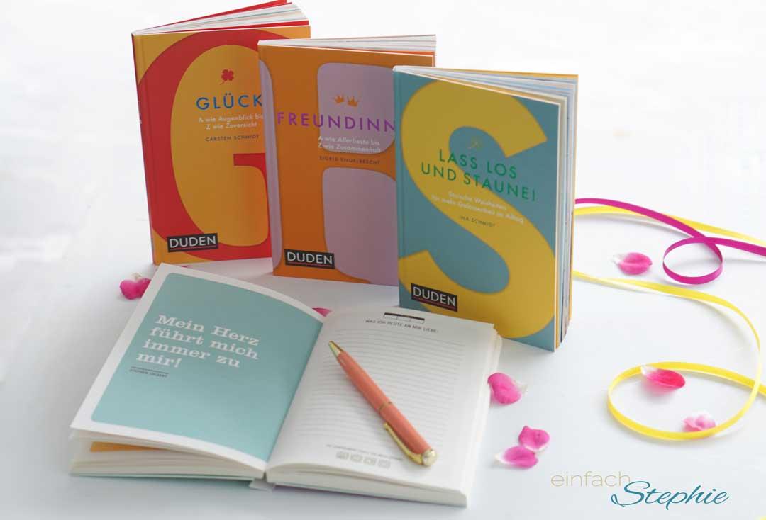 Duden Geschenkbücher mit herzlichen Worten und als Eintragbuch