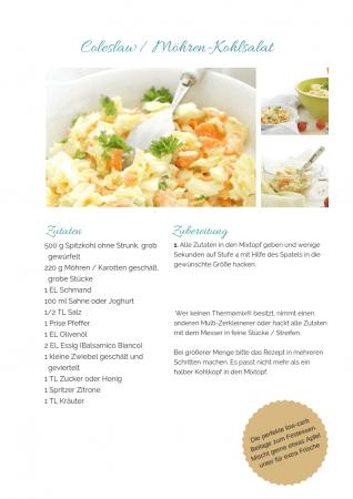 veganes Coleslaw Rezept als PDF kostenlos ausdrucken. Gratis eBook vegetarisches Weihnachtsessen