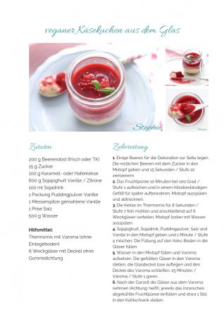 veganes Dessert Rezept als PDF kostenlos ausdrucken. Gratis eBook vegetarisches Weihnachtsessen