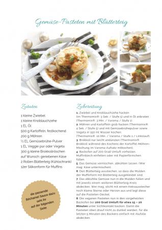vegetarische Pastete Rezept als PDF kostenlos ausdrucken. Gratis eBook vegetarisches Weihnachtsessen