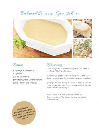 vegane Bechamel Sauce ohne Ei Rezept als PDF kostenlos ausdrucken. Gratis eBook vegetarisches Weihnachtsessen