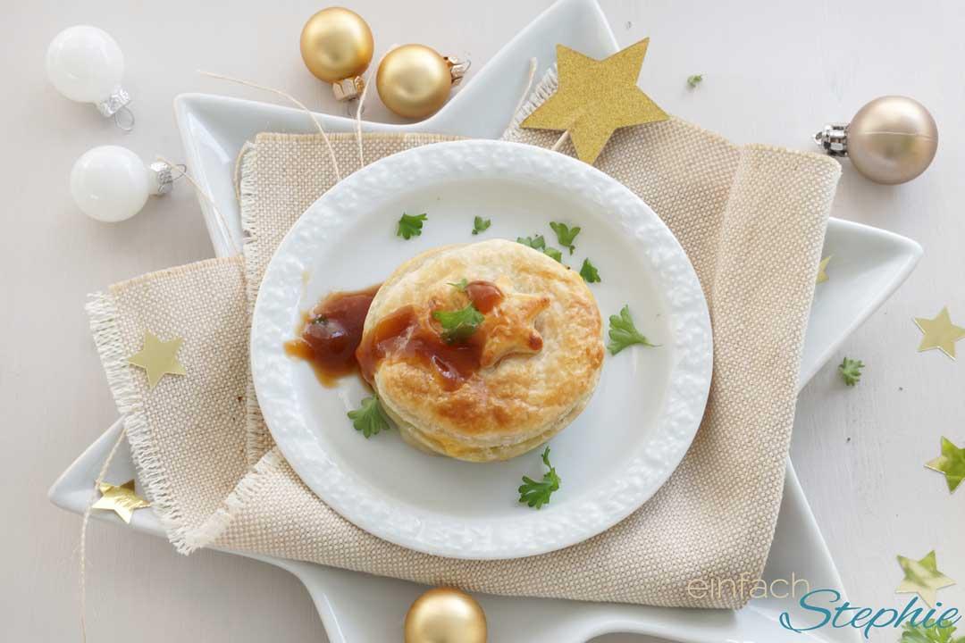 Weihnachtsessen Vegetarisch.Vegetarisches Weihnachtsessen Gemüse Pastete Einfach Stephie