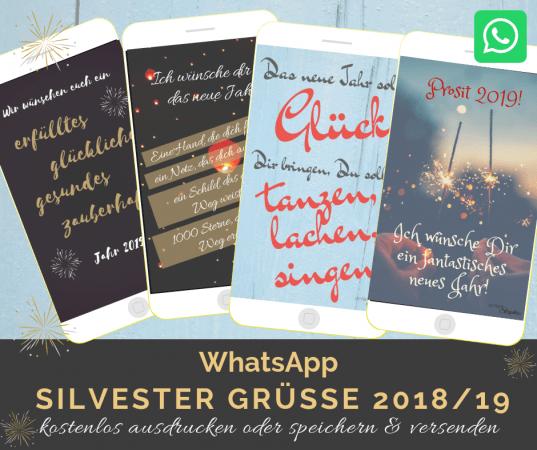 neue WhatsApp Silvestergrüße zum gratis Download. Neujahrswünsche kostenlos downloaden