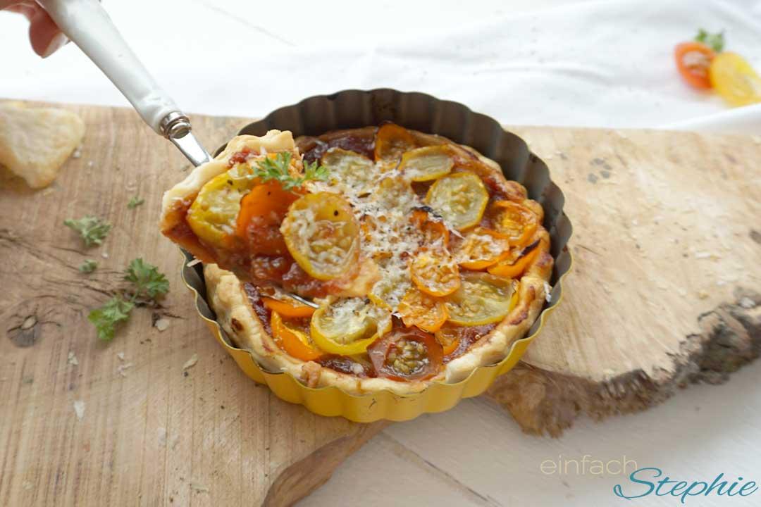 Tomaten Tarte Tatin einfach und schnell backen