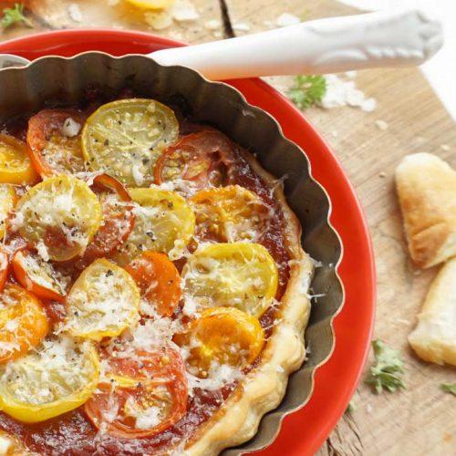Tomaten Tarte Tatin schnell und einfach backen