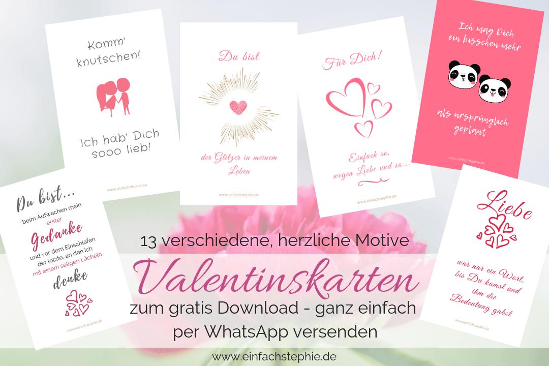 Valentinstag Sprüche Valentinskarten WhatsApp kostenlos