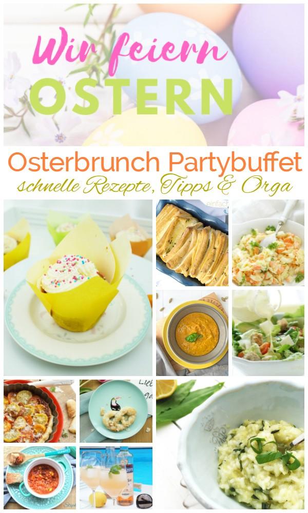 Oster-Brunch Partybuffet. Einfache Rezepte mit Tipps und Organisation von www.einfachstephie.de