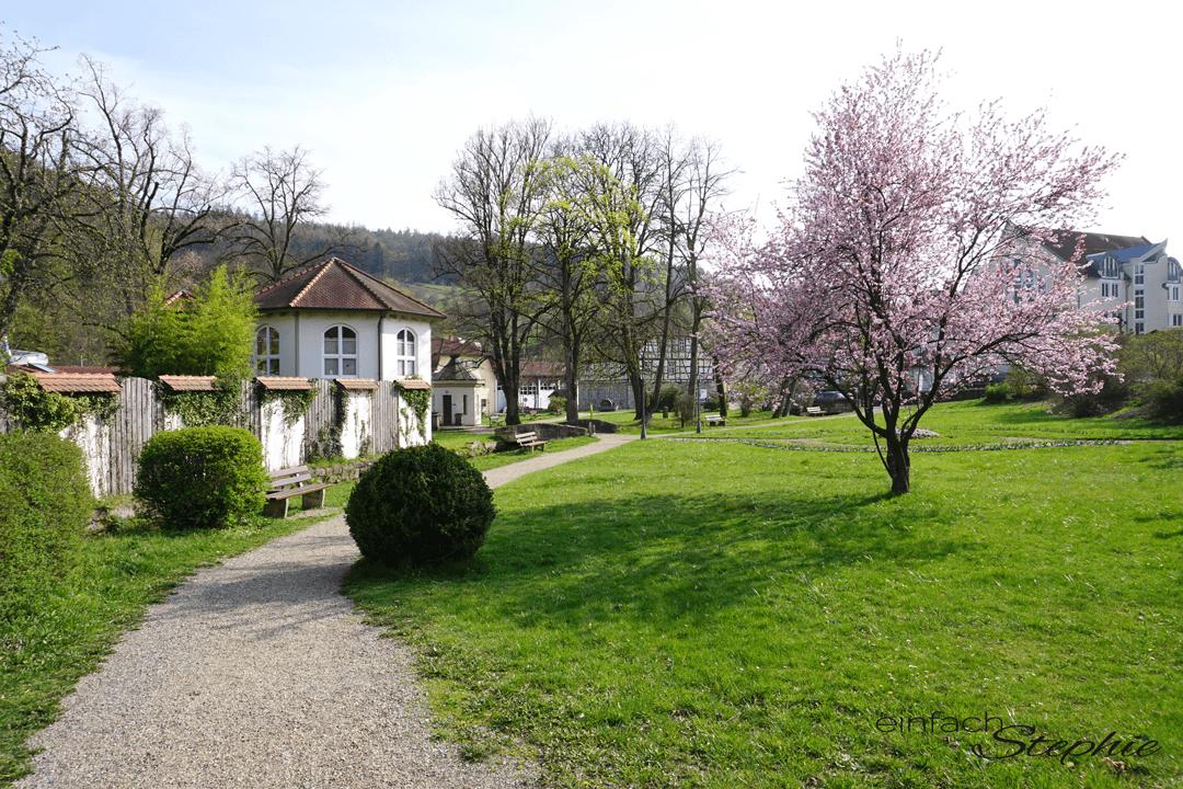 Bad Brückenau. Siebener Park an der Sinn