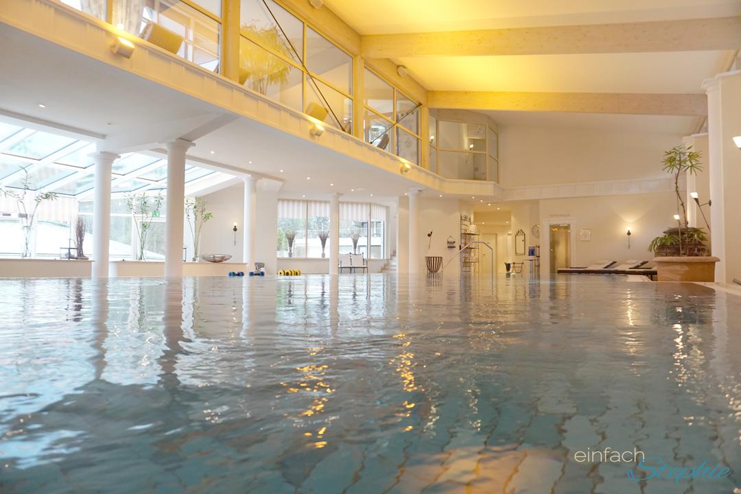Basenfasten im Hotel Regena Bad Brückenau. Poolbereich