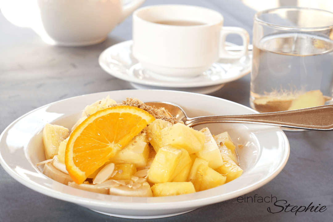 Basenfasten im Regena Gesundheitsresort Bad Brückenau. Basisches Frühstück mit Obst